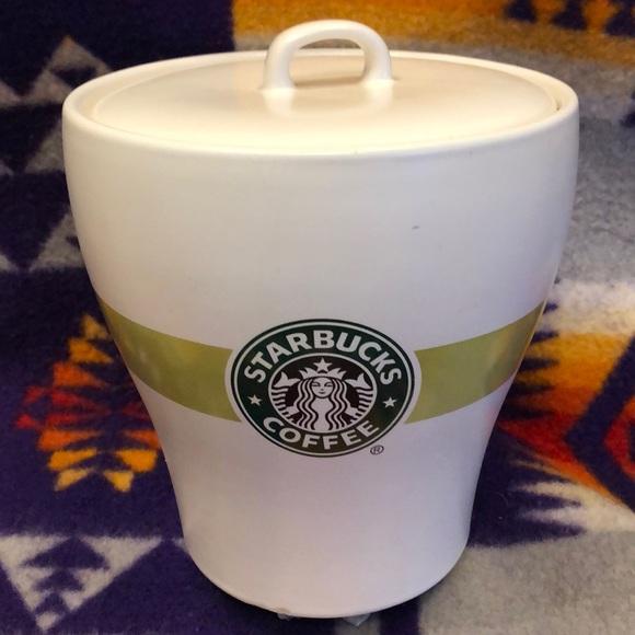 Starbucks green white canister